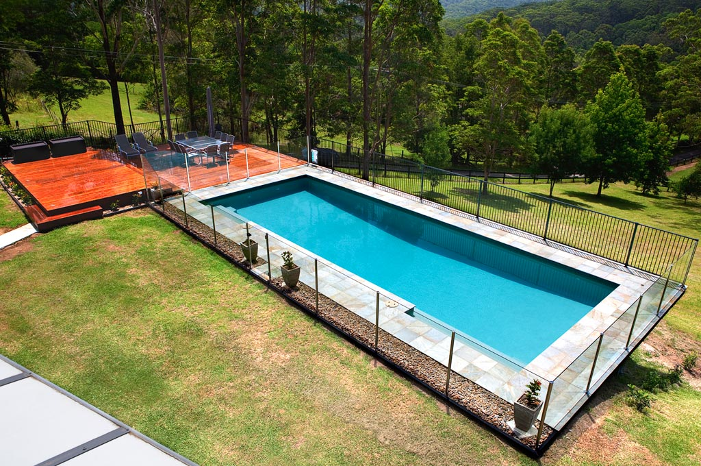 Pool builders algester and pool construction zenith - Building a swimming pool on a slope ...